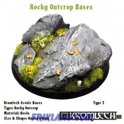 ROCKY OUTCROP BASES, ROUND 60MM