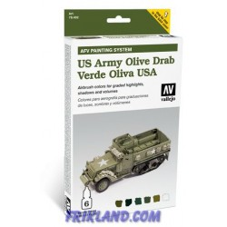 AFV ARMY OLIVE DRAB ARMOUR PAINTING S. 6X8ML