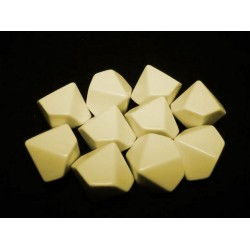 Opaque Polyhedral Ivory Blank 8-sided dice (1)