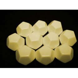 Opaque Polyhedral Ivory Blank 10-sided dice (1)