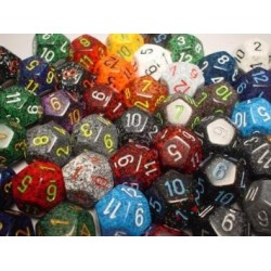 Bag of 50 Asst. Loose Speckled Poly Tens 10™ Dice