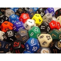 Bag of 50 Asst. Loose Opaque Polyhedral d12 Dice