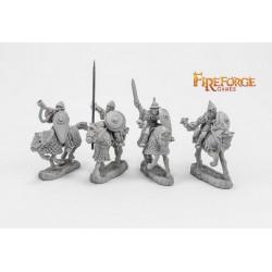 Junior Druzhina Command (4 mounted resin figures)