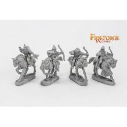 Junior Druzhina Archers (4 mounted resin figures)