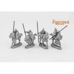 Junior Druzhina Lancers (4 mounted resin figures)