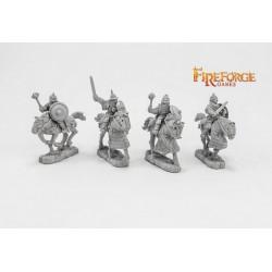 Senior Druzhina mixed weapons (4 mounted resin figures)