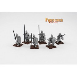 City Militia Spearmen (6 infantry resin figures)
