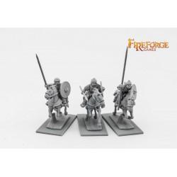 Russian Chernyeklobuki Lancers (3 mounted resin figures)