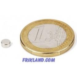 Bolsa 50 imanes de neodimio 4 mm (diámetro) x2 mm (grosor)
