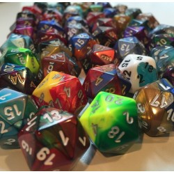 Bag of 50 Assorted Loose Gemini Polyhedral D10 Dice