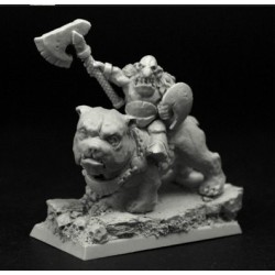 28mm/30mm Goblin Chief on Dog