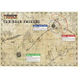 "5x 36"" by 36"" high quality printed vinyl mat, perfect for for your tanks to engage in combat over."