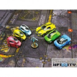 City Wrecked Cars set (5)