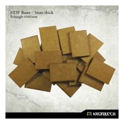 HDF 3mm Bases, Rectangle 60x40mm