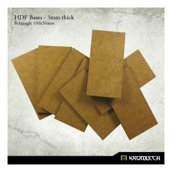 HDF 3mm Bases, Rectangle 100x50mm