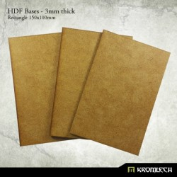 HDF 3mm Bases, Rectangle 150x100mm