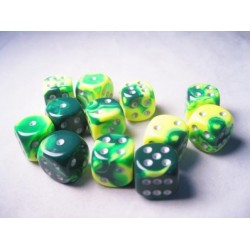 Gemini Polyhedral 7-Dice Set Red-Teal/Gold