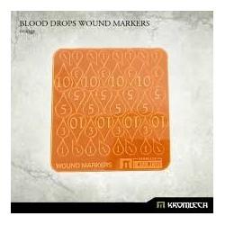 BLOOD DROPS WOUND MARKERS ORANGE
