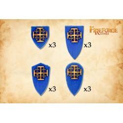 The Order of Jerusalem shields