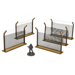 The Walking Dead: Chain-Link Fences MDF Scenery Set