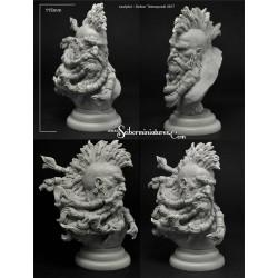 Dwarf Nobleman Bust - total height 90mm