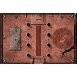 "D&D: ""Red Hall of Vor Rukoth"" Vinyl Game Mat 20""x 30"""