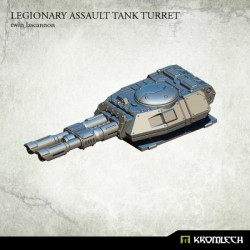 LEGIONARY ASSAULT TANK TURRET:TWIN LASCANNON (1)
