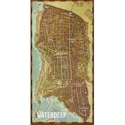 """D&D: """"Waterdeep"""" Vinyl Game Mat 20""""x 40"""""""