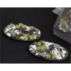 Winter Bases Oval 75mm (x3)