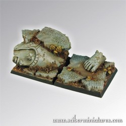 Elven Ruins Square Bases 40mm set2 (2)