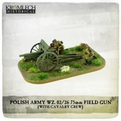 POLISH ARMY 75MM FIELD GUN WITH CAVALRY CREW