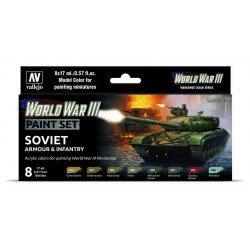 WWIII Paint Set American Armour & Infantry