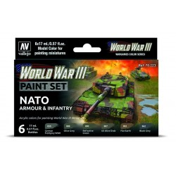 WWIII Paint Set British Armour & Infantry