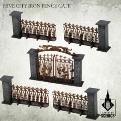 HIVE CITY IRON FENCE GATE