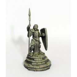 Estatua de los hombres y pedestal