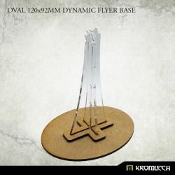 OVAL 120X92MM DYNAMIC FLYER BASE WITH PLEXI STEM (1)