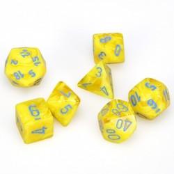 Polyhedral 7-Die Set Vortex Yellow/blue