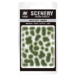 Wild Tuft - Green: 4 mm.