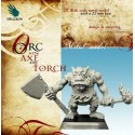 Orc with Axe and Torch