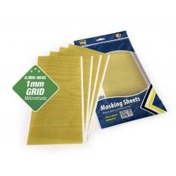 Masking Sheets Rejilla 1mm. x5 pliegos (Adhesivas)