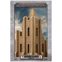 Gothic Battlefields: Large Corner - Sandstone