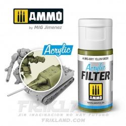 Acrylic Filter: Khaki Green