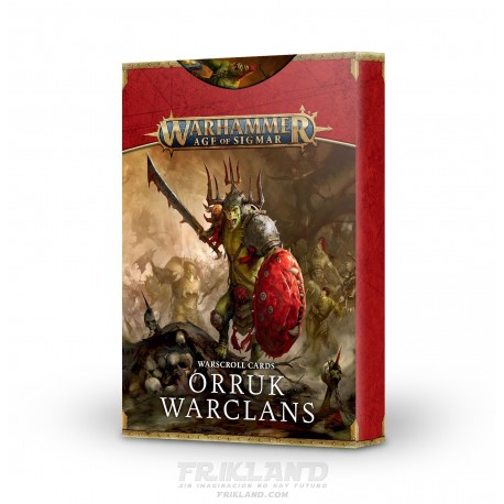 WARSCROLL CARDS: ORRUK WARCLANS ESPAÑOL
