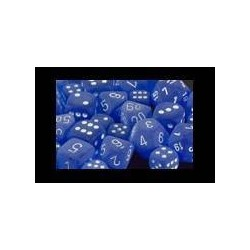 Frosted Blue/white 12mm d6 (36 Dice)