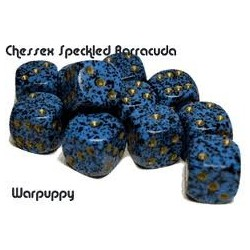 Speckled 16mm d6 Barracuda (12 Dice)