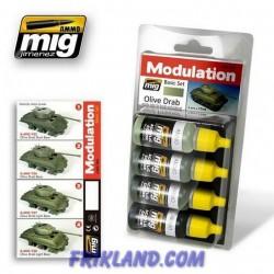 Set De Modulación Olive Drab
