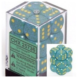 Speckled 16mm d6 Primula (12 Dice)