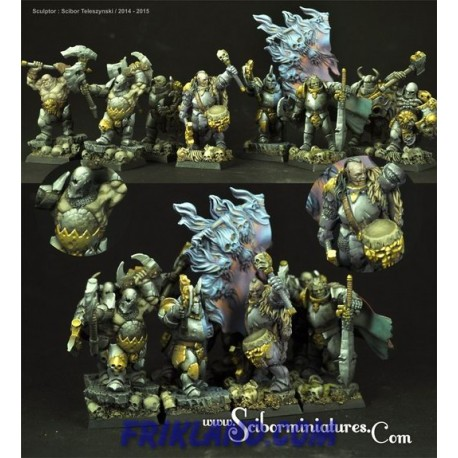 Dwarves Cannoneers 10 miniatures (10)