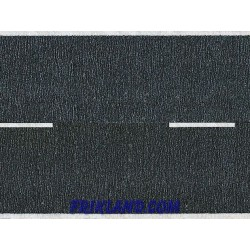 Carretera de asfalto/Asphalt Road black 100x4,8cm (in 2 rolls)